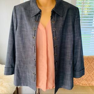 PRESTON & YORK beautiful slate blue/gray blazer!